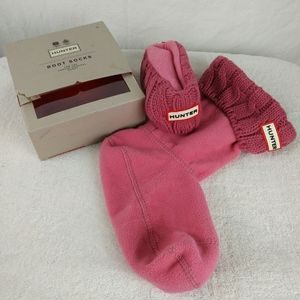 HUNTER Pink Fleece Boot Socks Medium New In Box